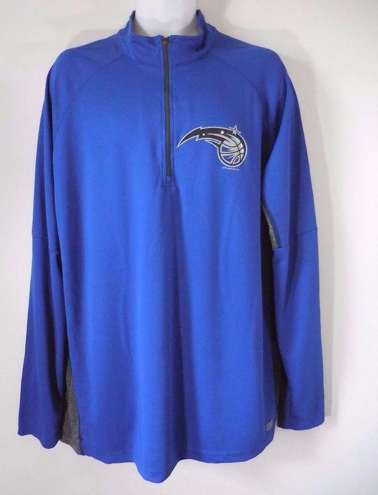 NBA Orlando Magic TX3 Cool Half Zip Lightweight Pullover Mens Size 2XL Blue Nwot #NBA #Pullover