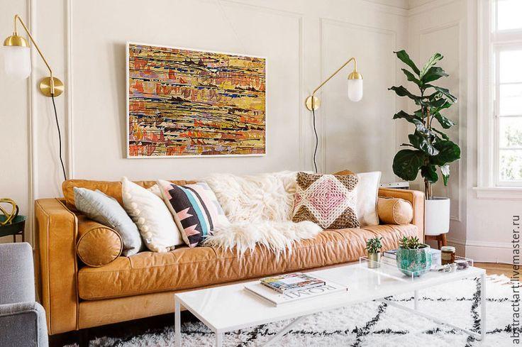 Купить LineTime04 Большая картина купить новогодний подарок абстракция зима - картина в офис кабинет