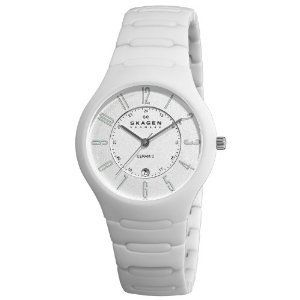 #Skagen Womens 817lwxc Ceramic White  women watch #2dayslook #new #watch #nice  www.2dayslook.com