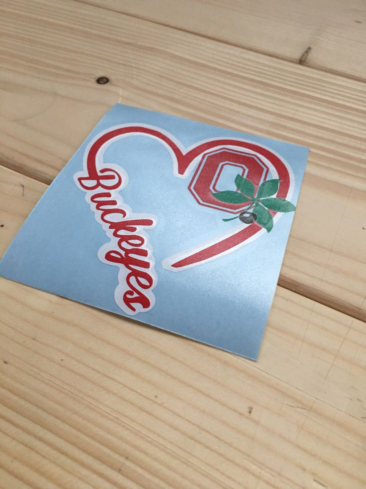 Ohio State Buckeye Love Decal by OldCityVinyl on Etsy https://www.etsy.com/listing/263570413/ohio-state-buckeye-love-decal