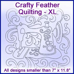 A Crafty Feather Quilting Design Pack - XL design (X0726) from www.Emblibrary.com