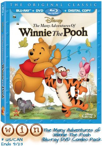 The Many Adventures of Winnie The Pooh Blu-Ray and DVD Combo Pack Giveaway