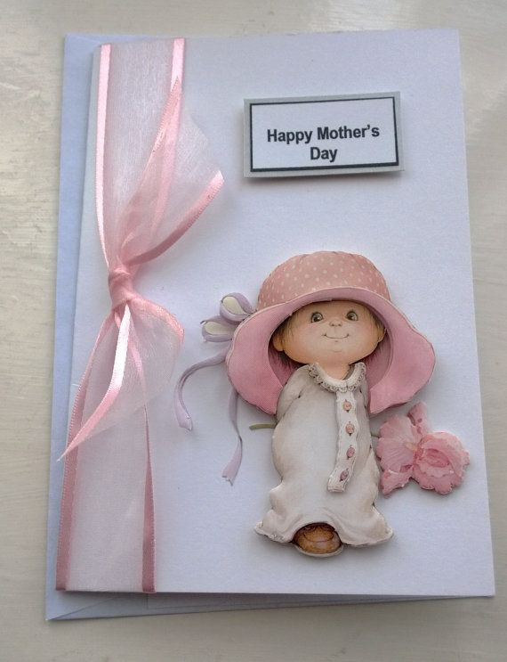 Handmade Mother's Day Card with Pink Ribbon down by SendingWishes, £3.00