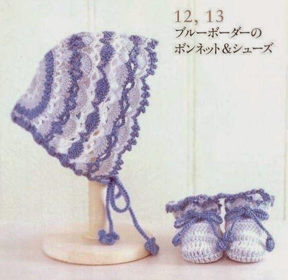 Grace y todo en Crochet: Zapatitos y gorritas para los chicos de la casa......