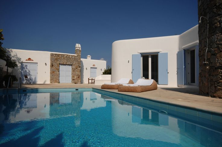 A Mykonos Villa  located in the area of St.Lazaros. From the villa, the visitor can see the bay of Psarrou, Platis Gialos beach and St.Anna. The view is magical and you'll have the chance to see the yachts, as the bay is windless and friendly for boats and the beach of Psarou gathers the whole jet set. Find out more here http://www.travelingtogreece.com/accomodation/mykonos-villas/deco