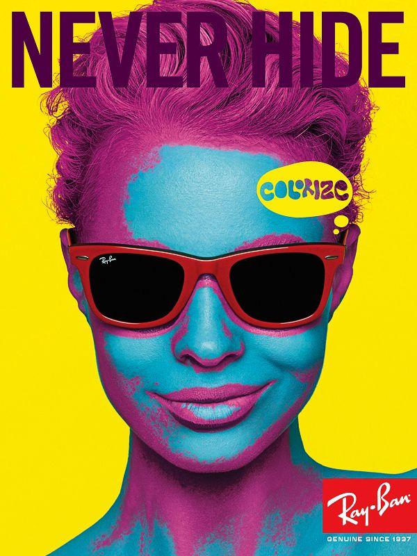 Ray-Ban Sunglass Paintings | Ray ban Never Hide Guerrilla Marketing Campaign Guerrilla Marketing ...