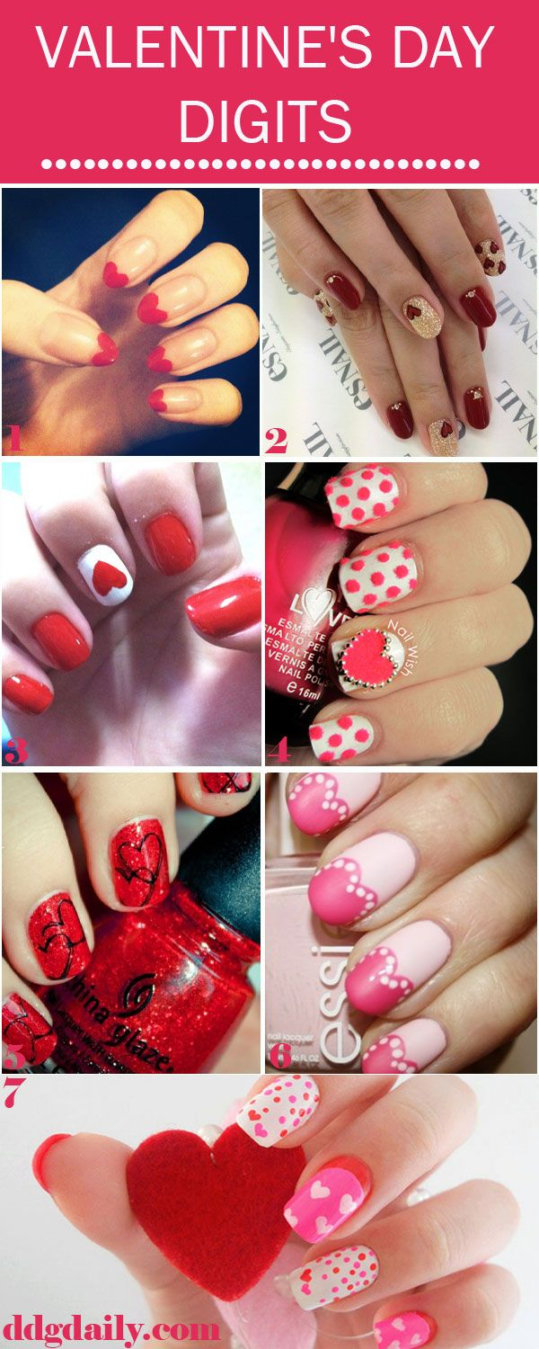 Valentine's Digits: A DDG moodboard full of cupid-inspired nail art #nails #mani #valentinesday #nailart