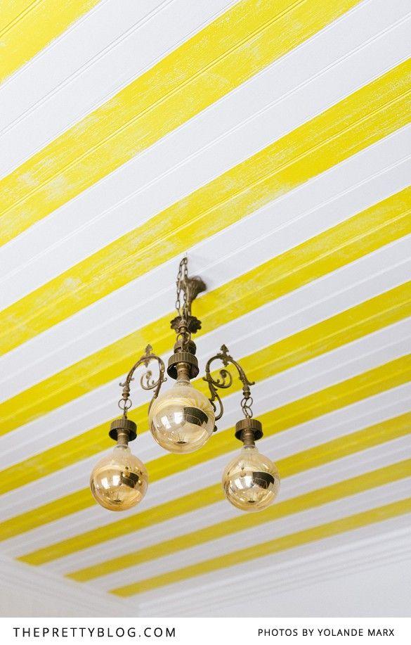 Yellow ceiling   Stripes   Yellow   Apartment   Cape Town   Interior   Etienne Hanekom Interiors