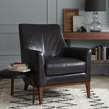Sloan Leather Chair WestElm Living Room