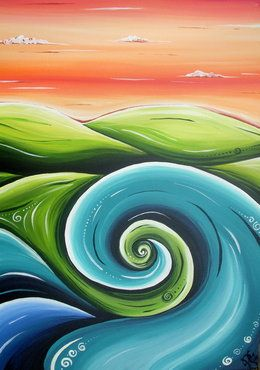 Seascape - Robyn Lamont NZ Artist
