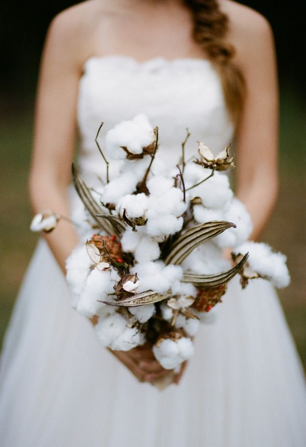Alternative Bouquet Made Entirely Out Of Cotton // White Rabbit Studios
