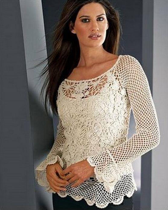 Más de 1000 ideas sobre Blusas Tejidas A Mano en Pinterest