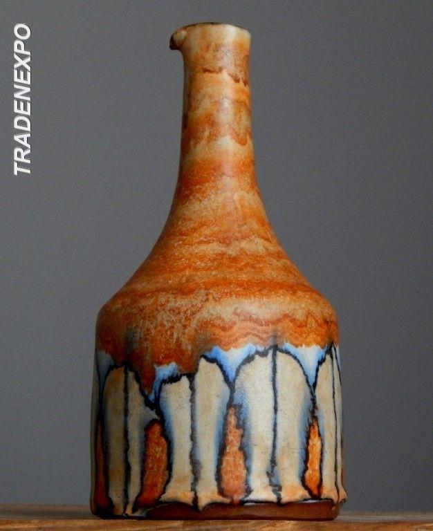 Vintage 1970's JUIST INSEL Vase A&W Schmidt-Tummeley German Pottery Fat Lava E.