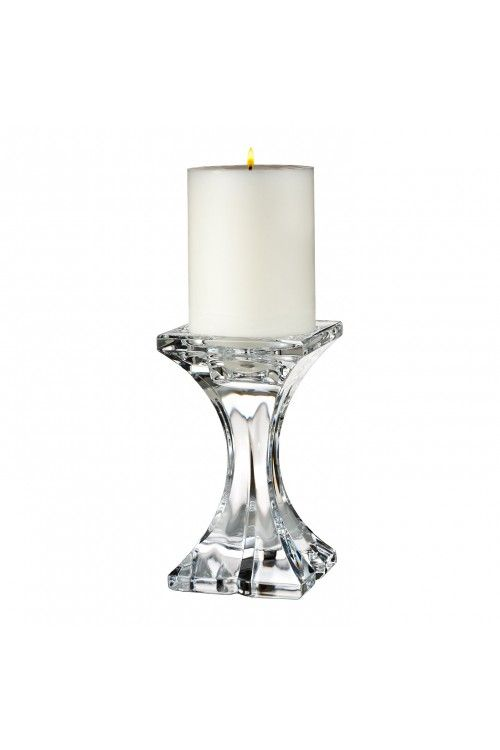 Marquis by Waterford Verano 6in Pillar Candlestick at Waterford Wedgwood Royal Doulton, Tanger Outlets, San Marcos, TX or call 1-800-203-4540 or 512-396-4025.  We ship.