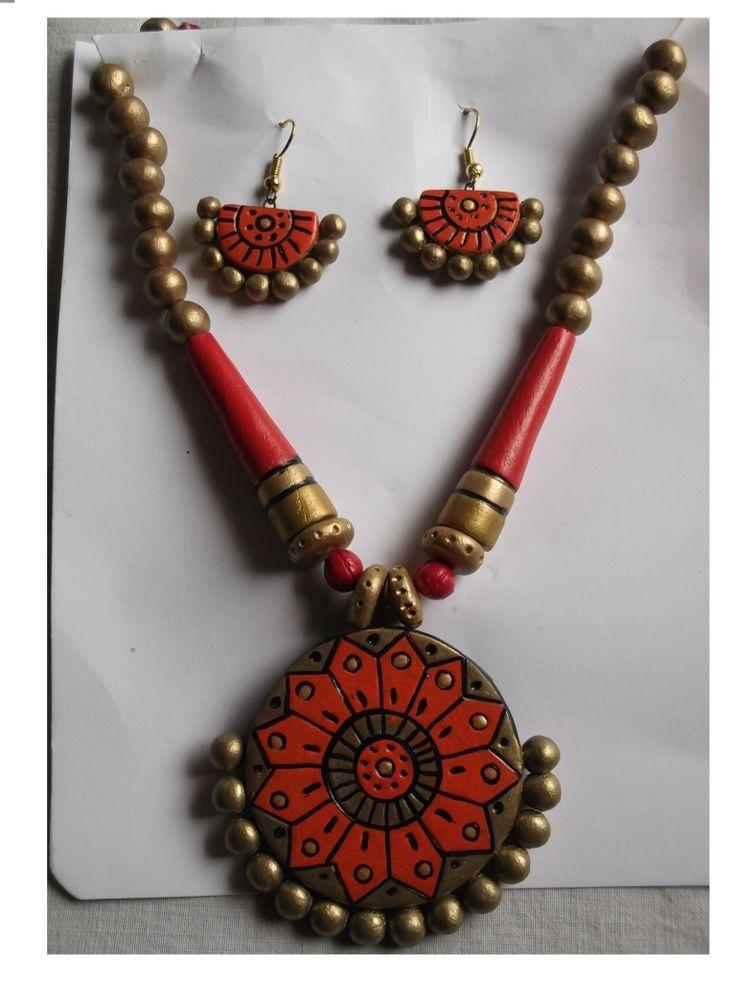 #Terracotta #Neckless Set  #jewellery #craftshopsindia