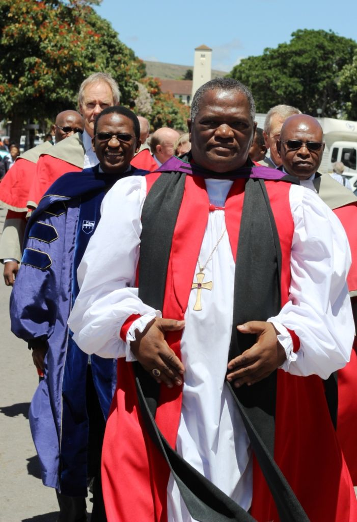 Bishop Ebenezer Ntlali leads procession down High Street to mark the occasion of the  150th anniversary of the High Court