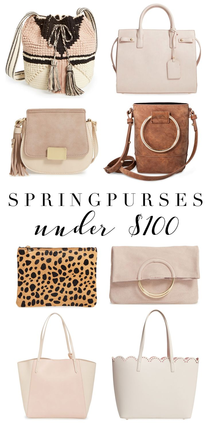 Spring Purses Under $100 | Affordable Purses | Spring Fashion | Spring accessories | Handbag Dupes