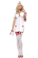 Leg Avenue 3PC Pleather Nurse Halloween Costume