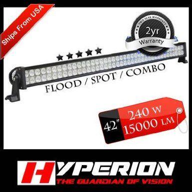 "Amazon.com: 40"" LED Double Row Off Road Light Bar - Spot/Flood Combo-80x3watt-240w-15000Lume: Home Improvement"