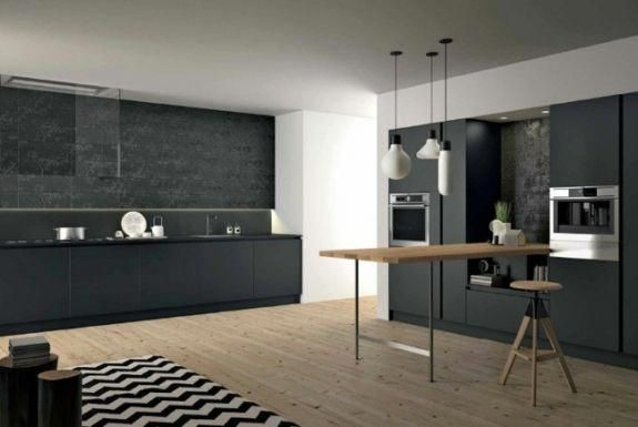 Cuisine noire  élégante, moderne et intemporelle