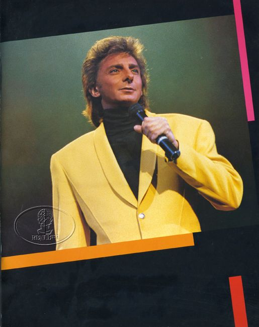 BARRY MANILOW 1989 ON BROADWAY Tour Concert Program Programme