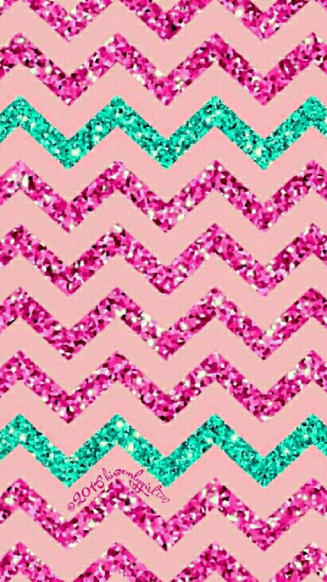 Glitter Galaxy Chevron Wallpaper I Created For The App CocoPPa