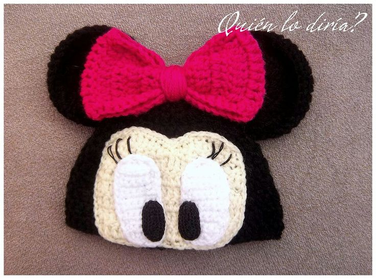 Minnie Mouse Crochet Baby Hat Pattern : Minnie Mouse crochet hat Baby Girl Pinterest