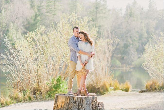 Jenks Lake Engagement Session from Blissfully Illuminated Photography