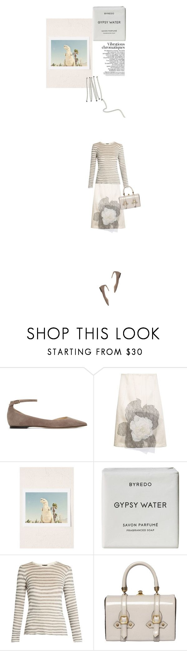 """""""like trying to stitch water together..."""" by paperdollsq ❤ liked on Polyvore featuring Jimmy Choo, Creatures of the Wind, Urban Outfitters, Byredo, ATM by Anthony Thomas Melillo, Tano, falala and 2to5onsunday"""