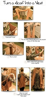 Turn Your Scarf Into a Vest!  That is amazing!