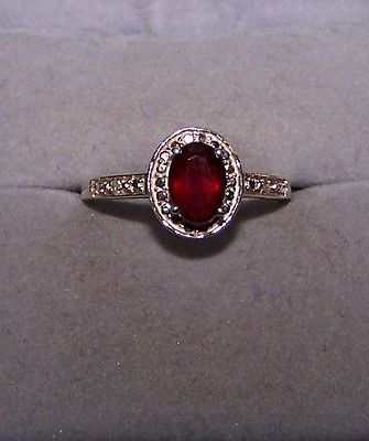 Chuck Clemency NYC II shop NBC sterling silver 925 Red Garnet Ring STS