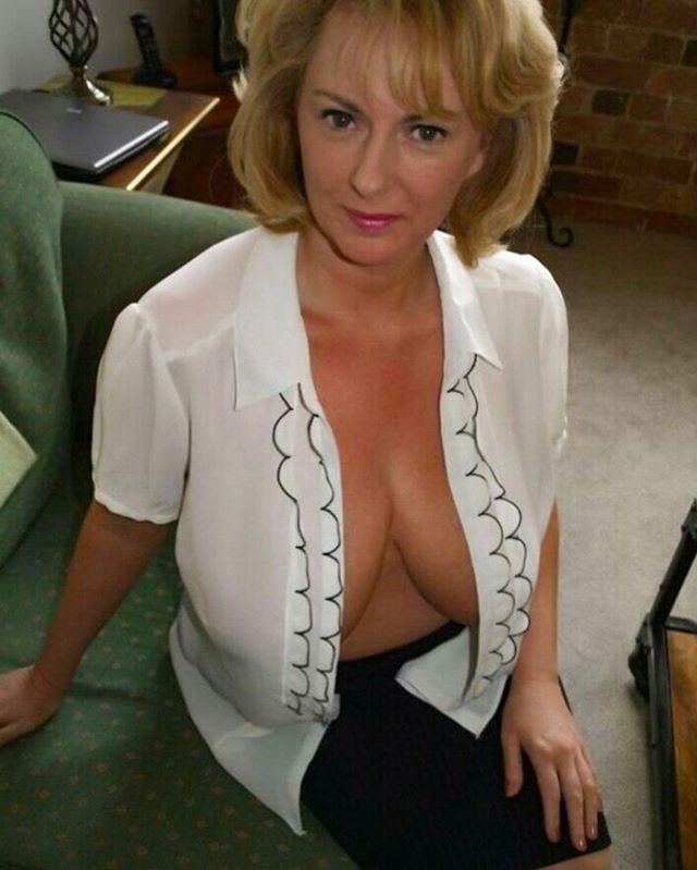 Elegant blonde blowjob