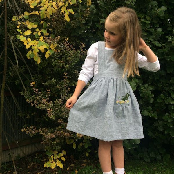 The Tui Pinafore PDF sewing pattern  by Below The Kōwhai $14 in sizes 1-10