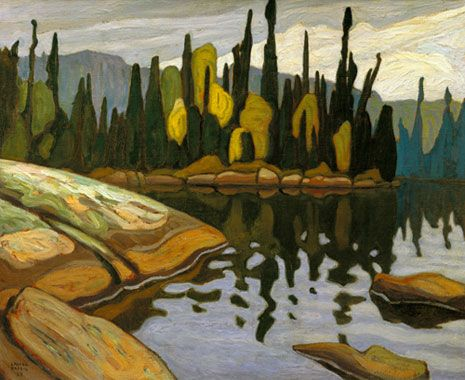 Lawren Harris - Shimmering water Algonquin Park (Group of Seven Artist)