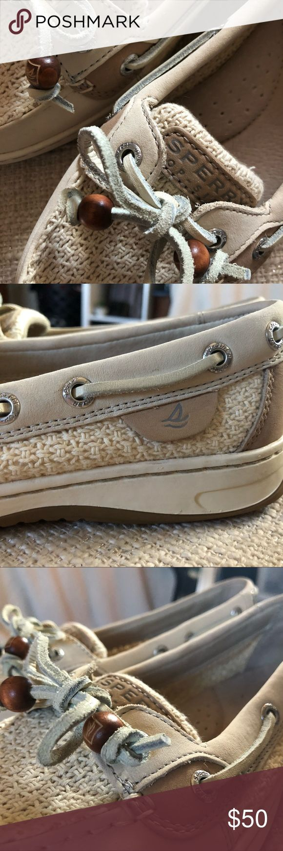Sperry Crochet boat shoes Unique detailing perfect condition worn once Sperry Shoes