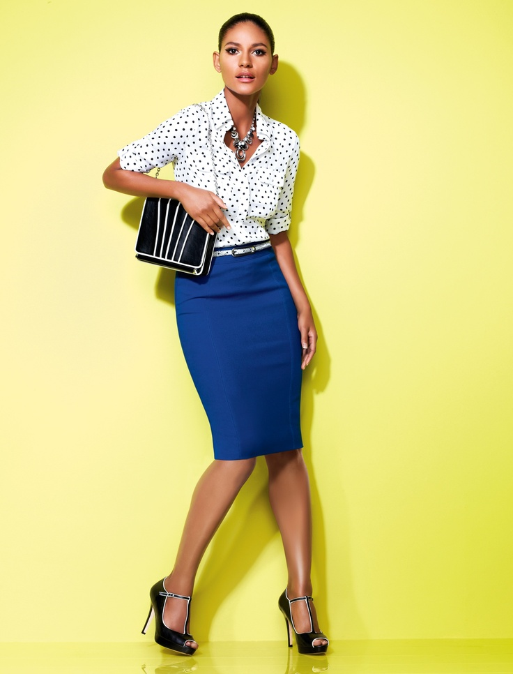 Best 25  Blue pencil skirts ideas on Pinterest | Up skirts ...