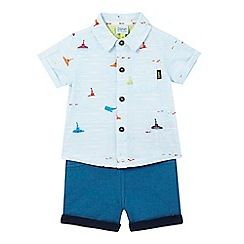 Baker by Ted Baker - Baby boys' blue submarine print shirt and shorts set - debenhams.com