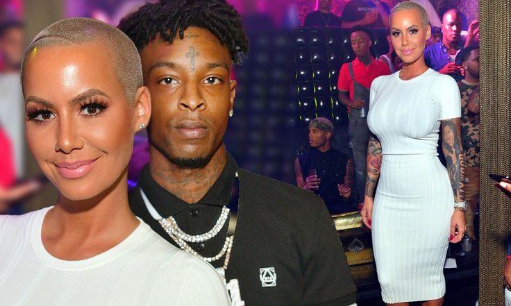Amber Rose cozies up to boyfriend 21 Savage at Atlanta nightclub