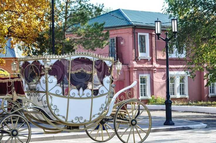 Stock image of 'Wedding carriage to transport the bride and groom'
