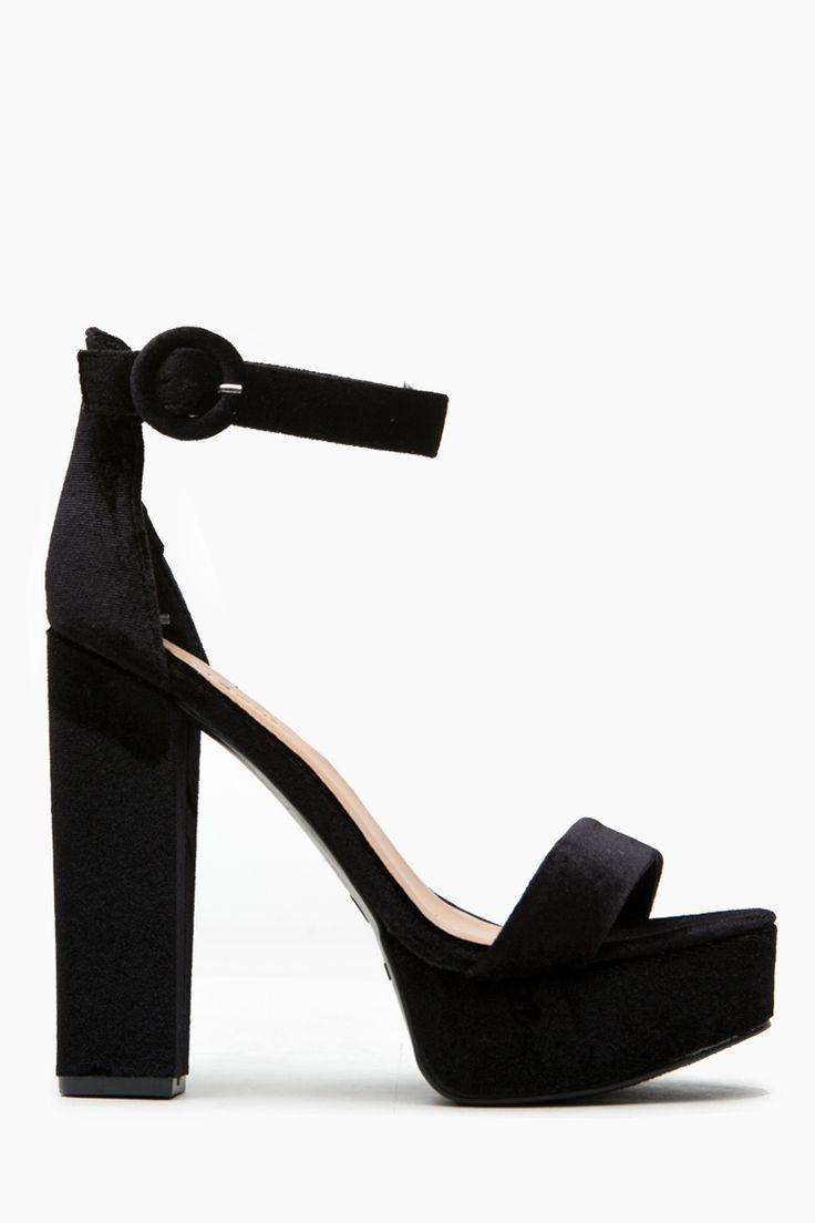 Black Faux Nubuck Platform Ankle Strap Heels @ Cicihot Heel Shoes online store sales:Stiletto Heel Shoes,High Heel Pumps,Womens High Heel Shoes,Prom Shoes,Summer Shoes,Spring Shoes,Spool Heel,Womens Dress Shoes