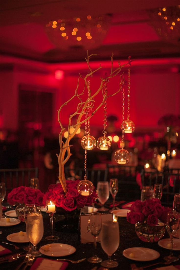 Image Result For Diy Black And Gold Wedding Centerpieces Red