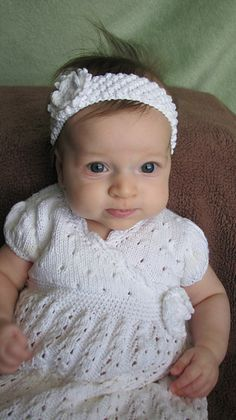 Baby dedication dress - free pattern on Ravelry