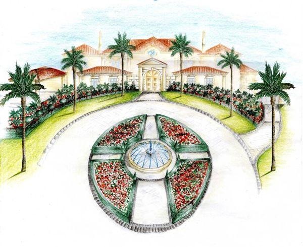 Mediterranean Gardens - Sketches Portfolio by Silvia Sacramento, via Behance