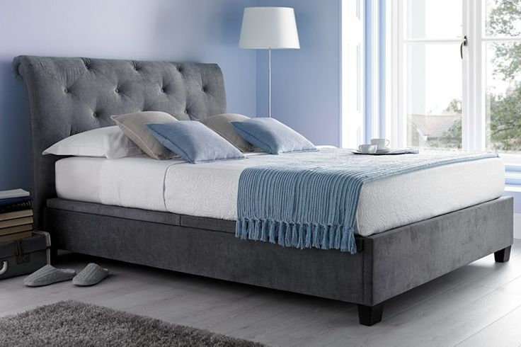 Kaydian Brunel Ottoman Bed in a stunning slate grey.