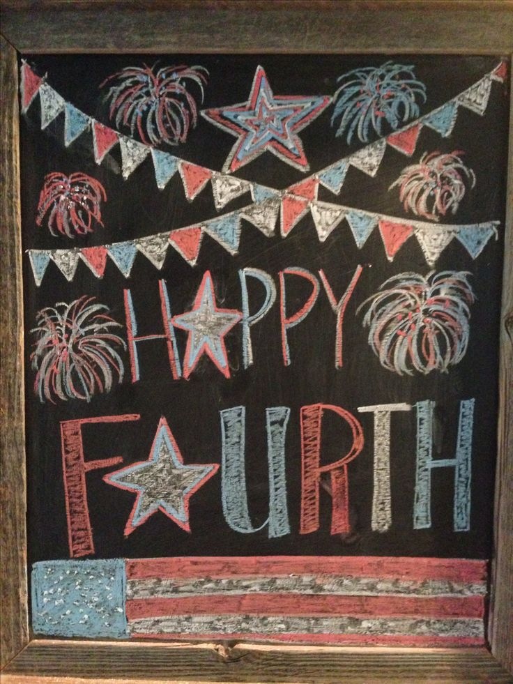 4th of July chalkboard Fourth of July chalkboard art