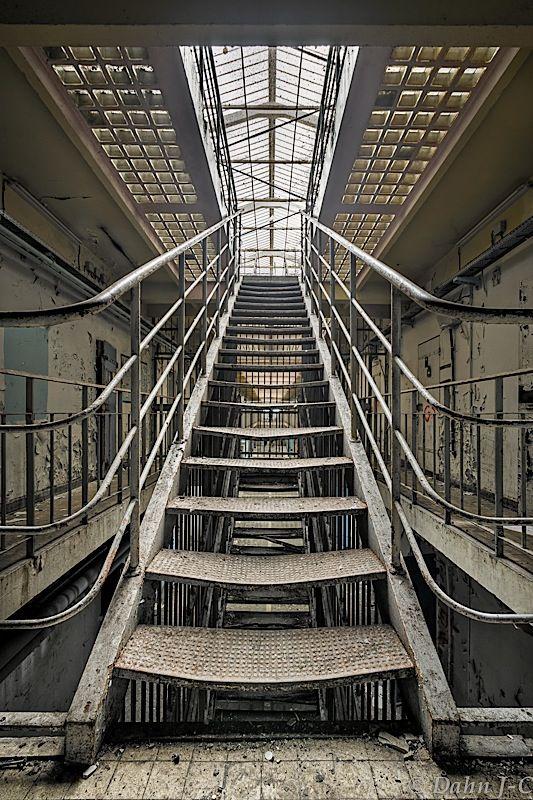 """Stairs To Light"" by ZerberuZ ....inside an abandoned prison"