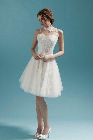 Robe de mariée courte sans manches