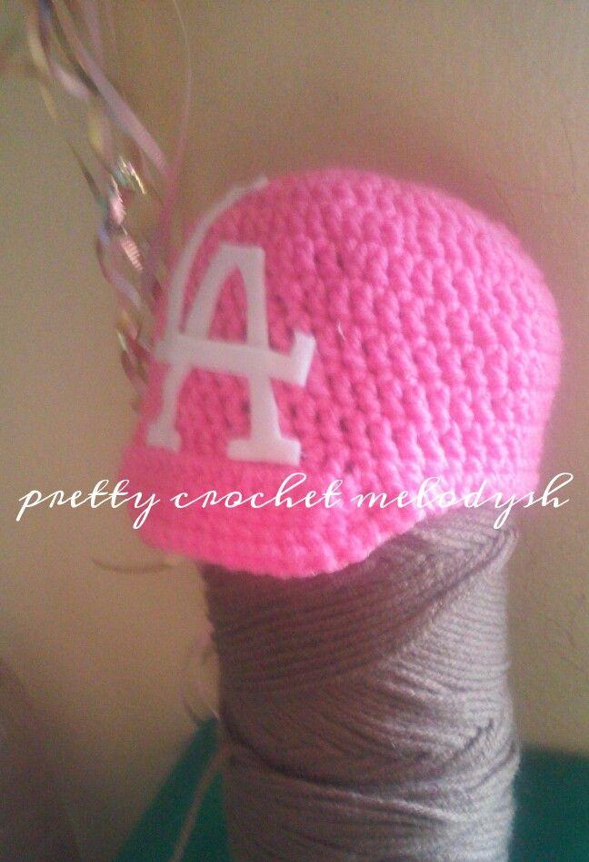 Baby girl hat dodgers crochet