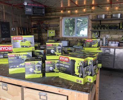 White Wood : Christmas in September, tools, shop, workshop, ryobi, cordless tools