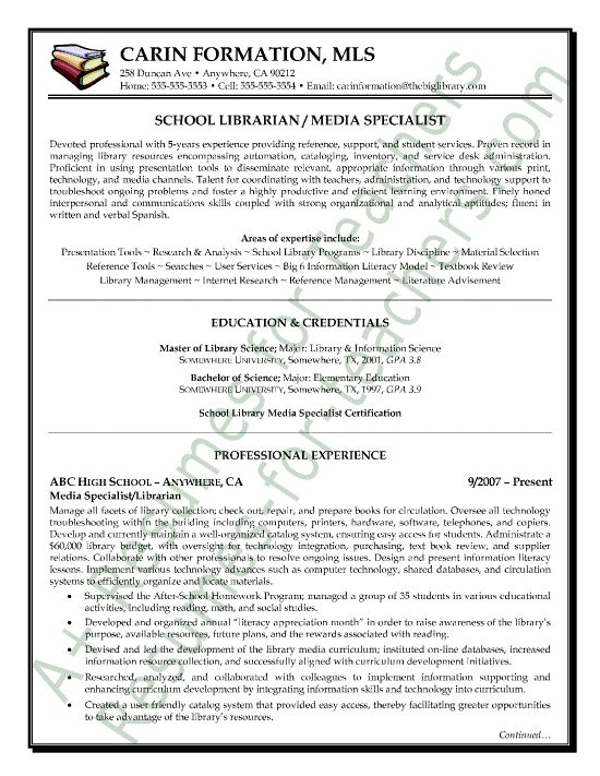 116 best Teacher Resume Samples Including Principals images on - resume for library assistant